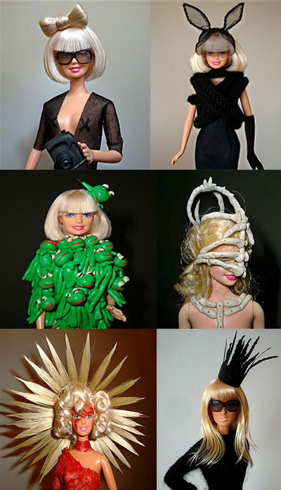 To my excitement, I found many different versions of Lady Gaga as barbies.